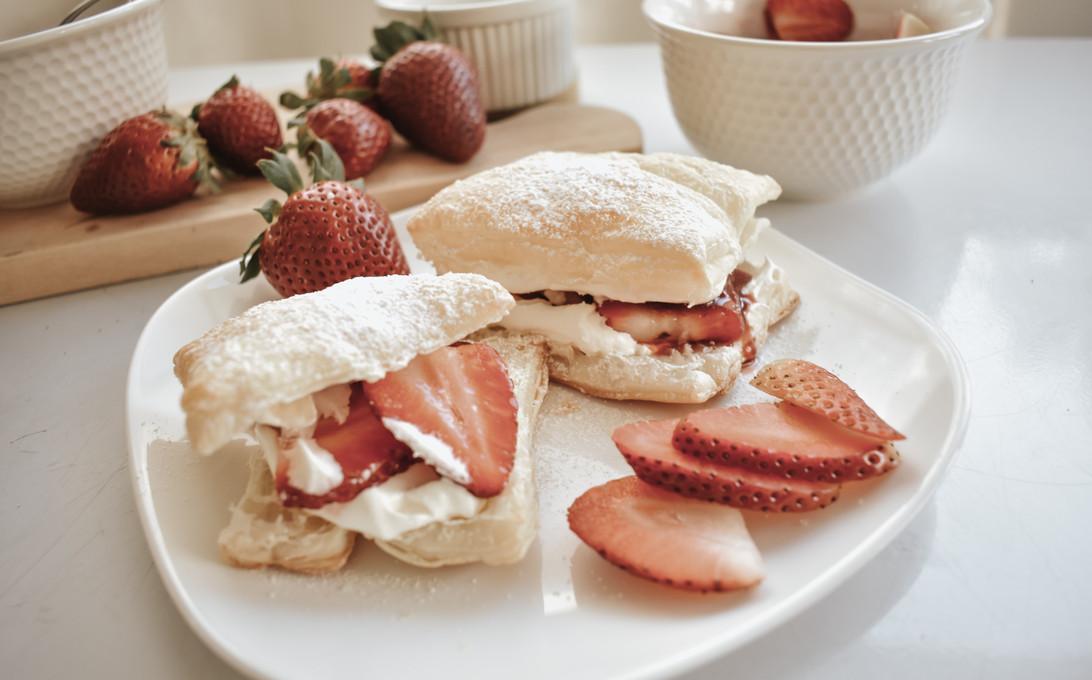 RECIPE: California Strawberry & Cream Pastry Puffs