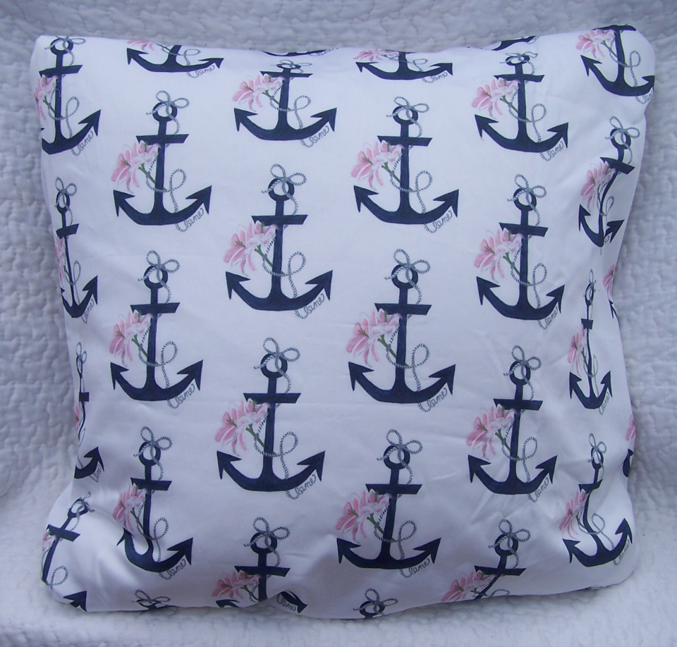 Anchor Lily pillow