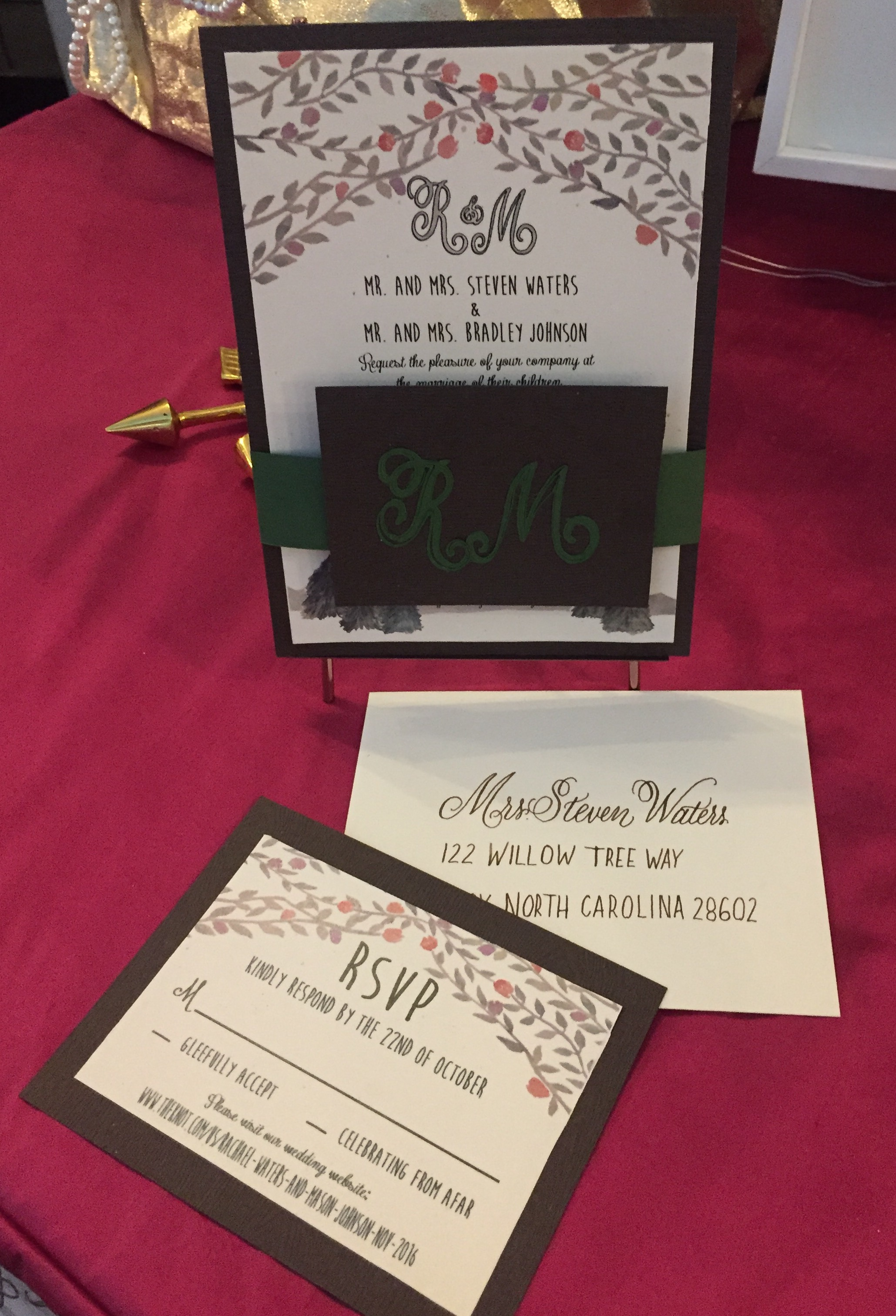 Rustic Monogram Invitation