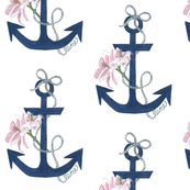 Anchor Lily Designer Fabric
