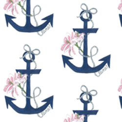 Anchor Lily Designer Fabric