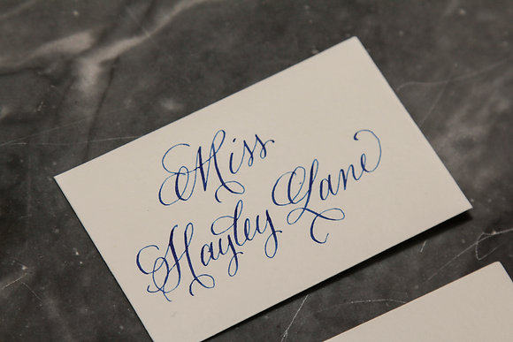 Place Card & Escort Card Calligraphy