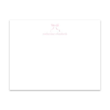 Pink Bow Notecard