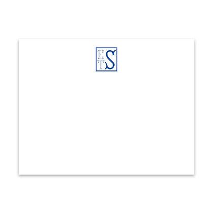 Sapphire Monogram Notecard