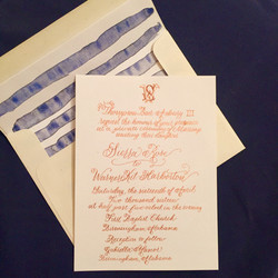 Full Calligraphy Invitation