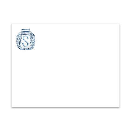 Ginger Jar Initial Notecard