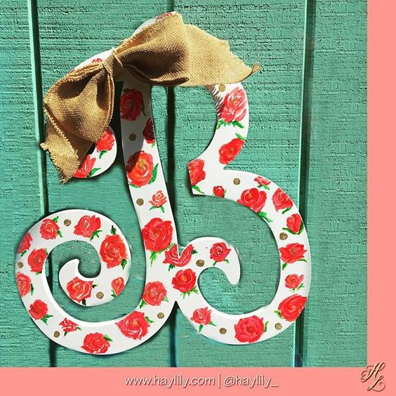 Custom Wooden Monogram