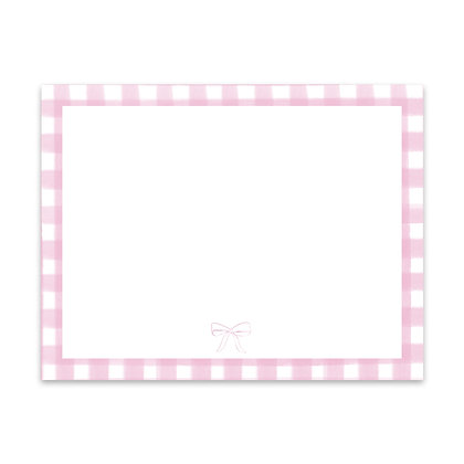 Pink Gingham Note