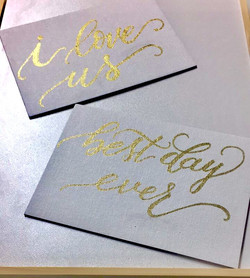 Small Wedding Calligraphy Signs
