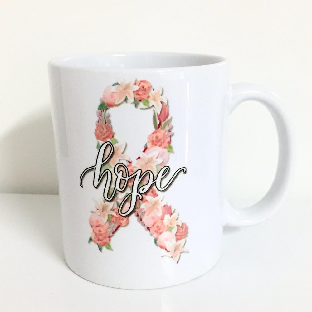 Hope Ribbon Coffee Mug