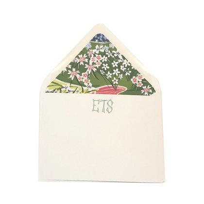 Floral Monogrammed Notecards