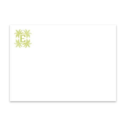 Palm Monogram Notecard