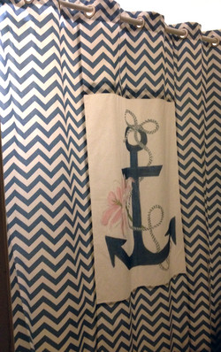Anchor Lily Shower Curtain