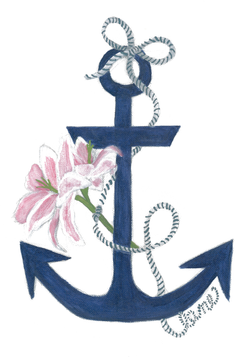 Anchor Lily Print