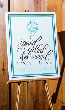 She's Yours Reception Sign