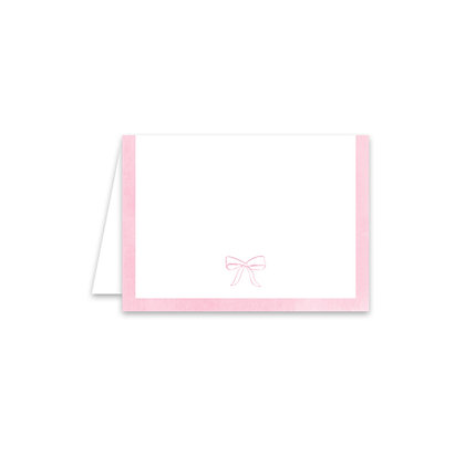 Pink Bow Place Card
