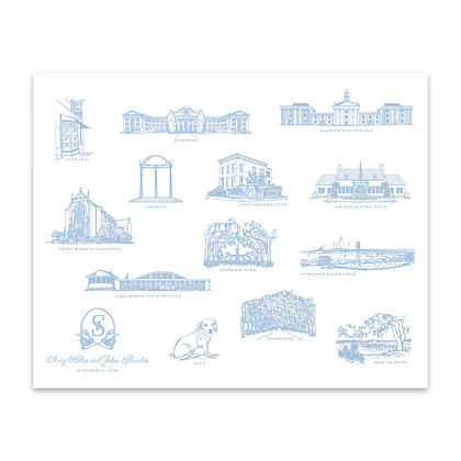 Custom Map Illustration