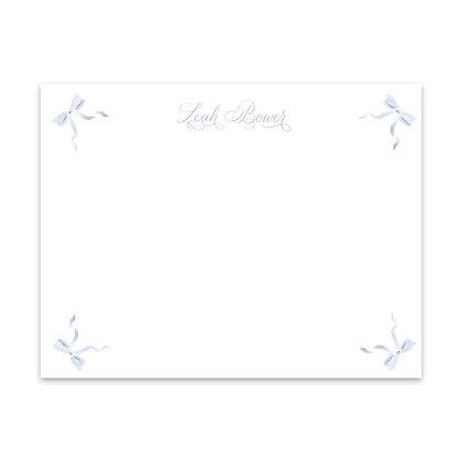 Blue Bow Notecard