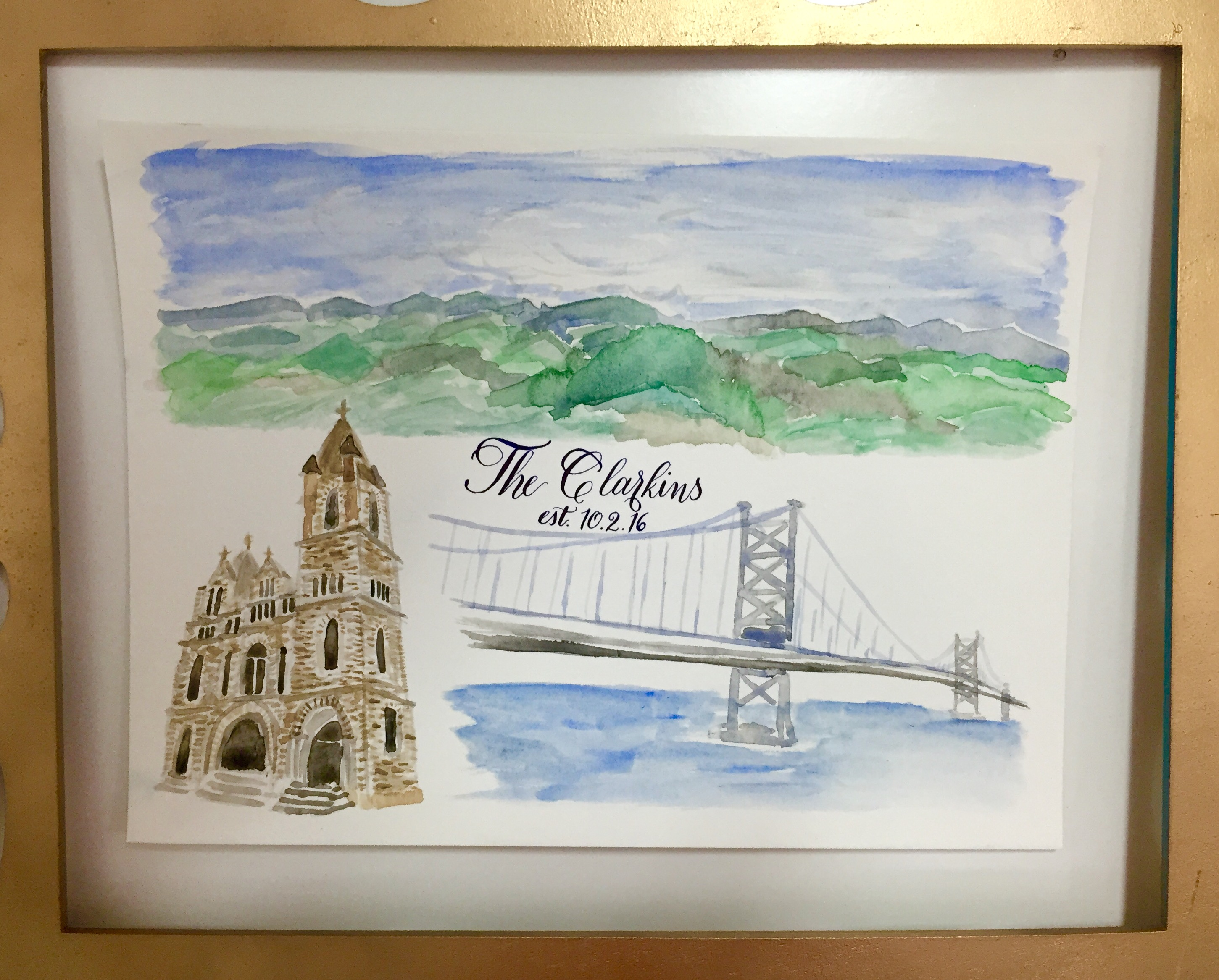 Custom Wedding Venue Watercolor