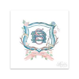 Watercolor Wedding Crest