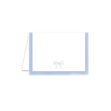 Blue Bow Place Card