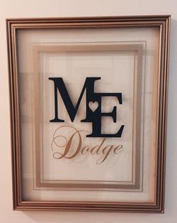 Calligraphed Monogram Frame