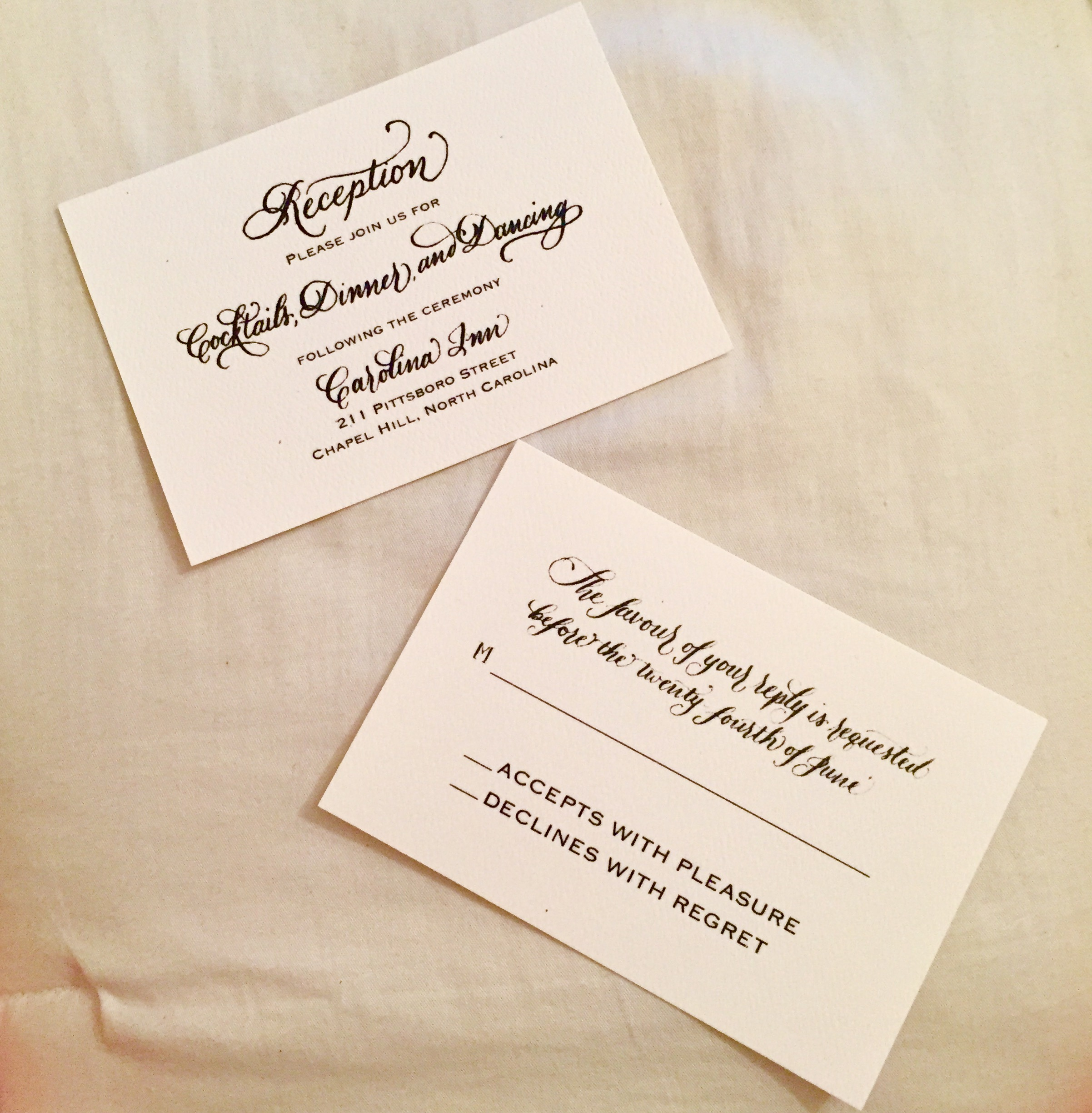 Classic Calligraphy Cards