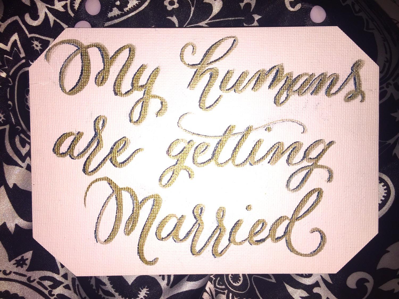 Wedding Pet Sign
