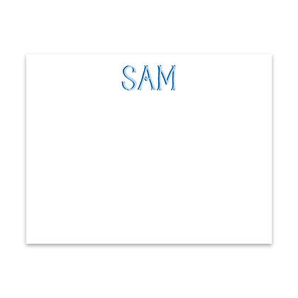 Blue Personalized Note
