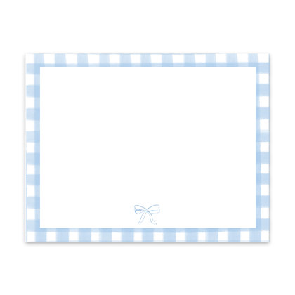 Blue Gingham Note