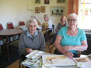 Art club meeting at Olive Bak Community club