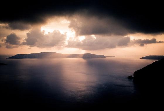 série photographie artistique paysages urbains, Santorin Grèce