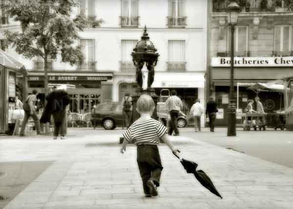 L'enfant au parapluie