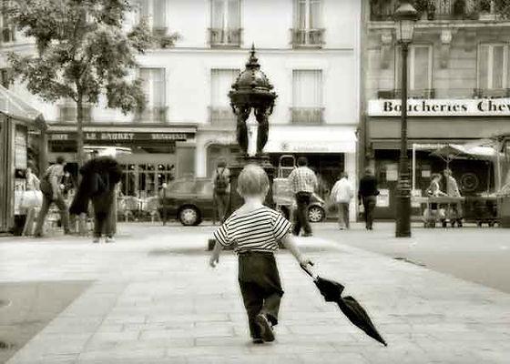 série photographie artistique paysages en noir et blanc, Paris