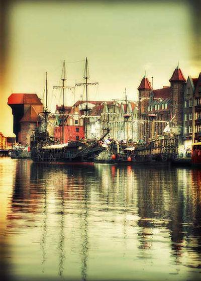 série photographie artistique paysages urbains, Port de Gdansk