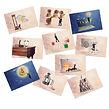 carte postale amusante, cadeau amusant, décoration originales