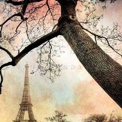série photographie artistique paysages urbains, Paris et la tour Eiffel
