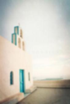 série photographie artistique paysages urbains, Eglise de Grèce Santorin