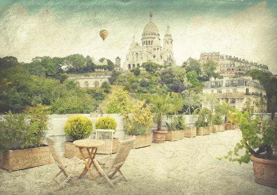 série photographie artistique paysages de nature en Europe, Paris, Montmartre, sacré Coeur