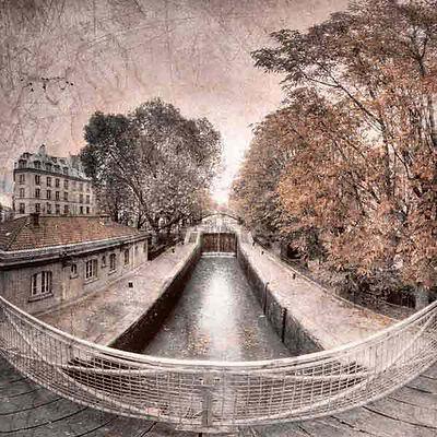 série photographie artistique paysages urbains, Paris, Le canal Saint Martin