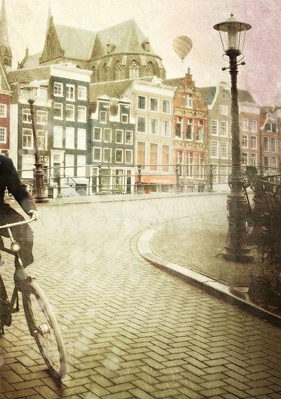 série photographie artistique paysages de nature en Europe, Amsterdam en vélo