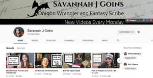 Image of author Savannah J. Goins YouTube channel