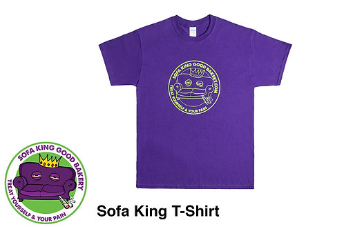 Sofa King Good Clothing - L Purple Tshirt