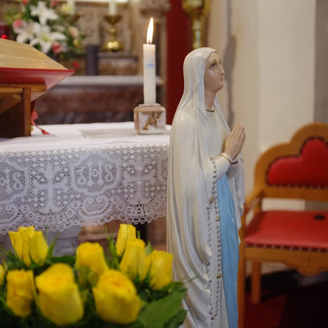 We celebrated Our Lady of Lourdes
