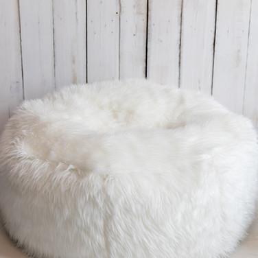 White Newborn Beanbag