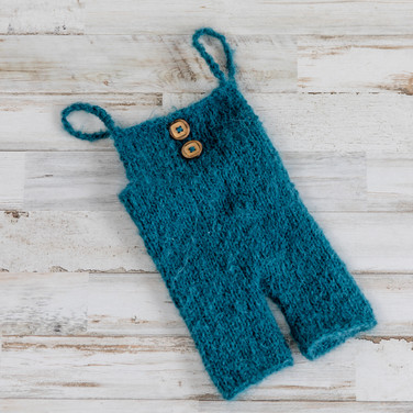 Blue Wool Overalls