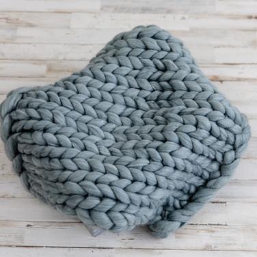 Charcoal Woven Blanket