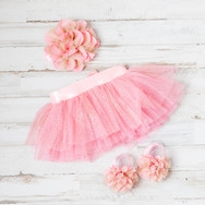Baby Girl Pink Dress with Headband