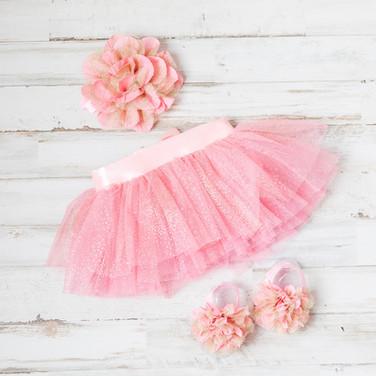 Baby Girl Pink Dress with Headband