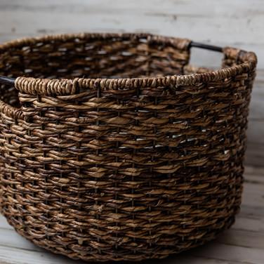 Large Dark Wicker Basket